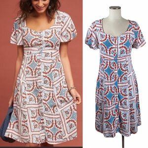 Anthropologie Maeve Praslin Print Dress size 6